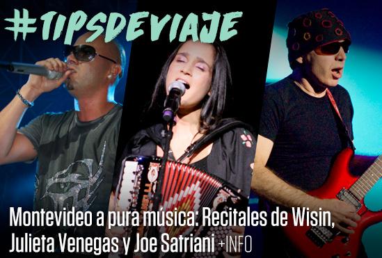 Recitales de Wisin, Julieta Venegas y Joe Satriani