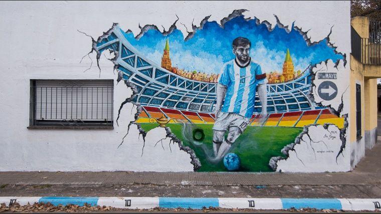 Murales De Artistas Internacionales Decoran El Barrio Donde Nacio Messi